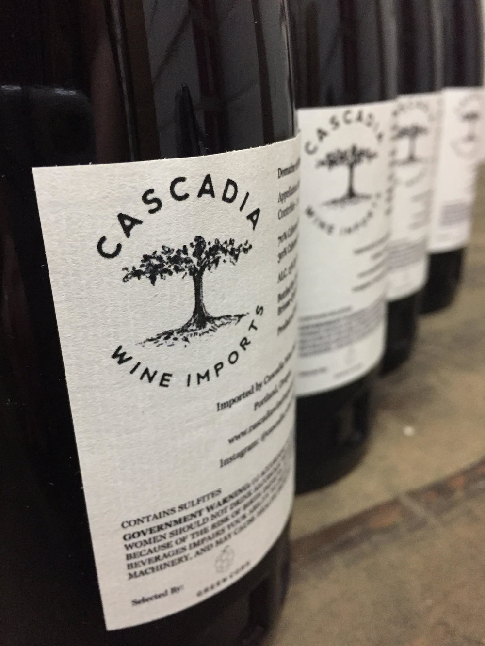 Look for this back label to see if you have a Cascadia Imports wine!
