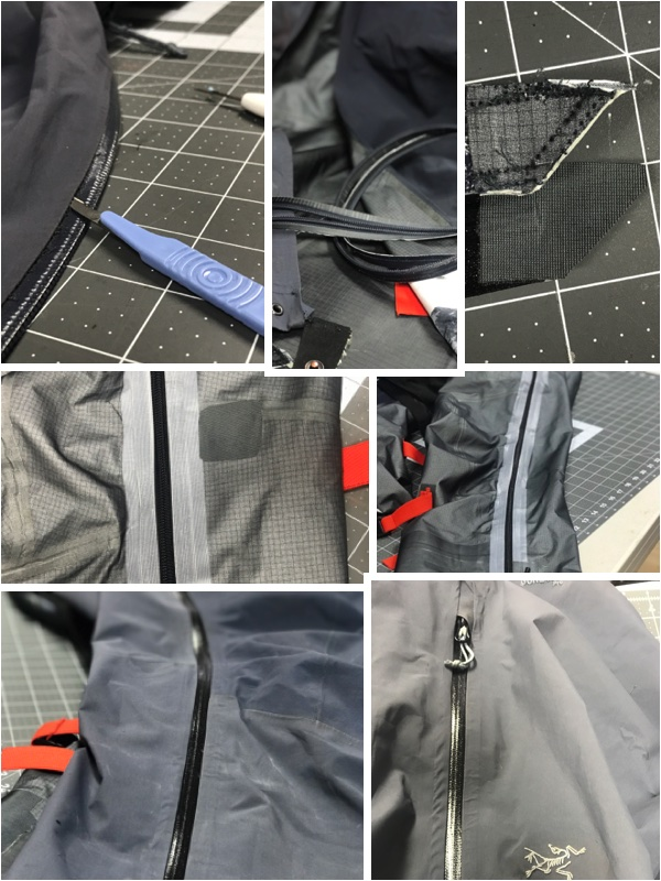 Goretex pant zipper replacement