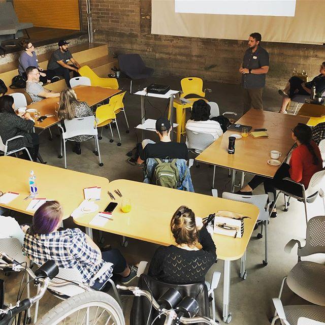 Full house for AIGA AZ's Future Thinking event! . . . . . . . . #designthinking #design #arizona #phoenix #businessethics #aiga #aigaaz