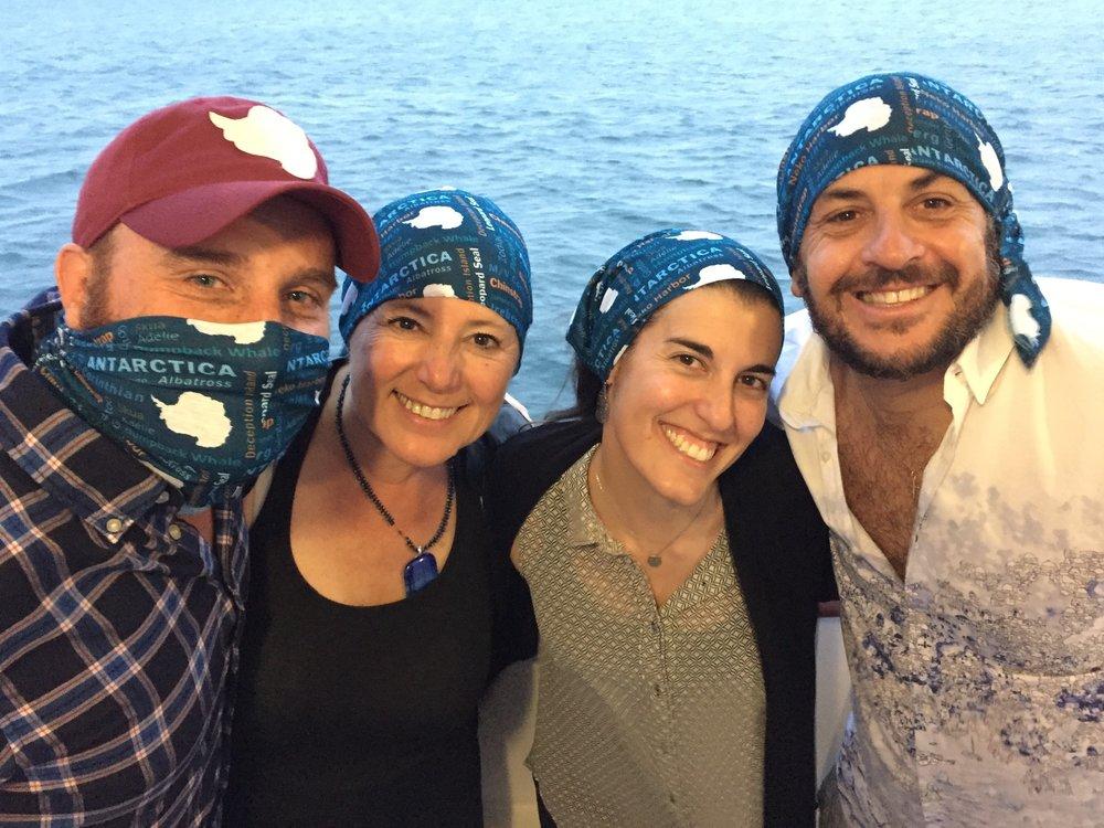 Grand Circle Trip Leaders wearing their Antarctic Neck Gators