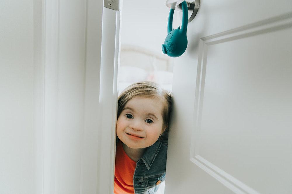Sense movement at the door