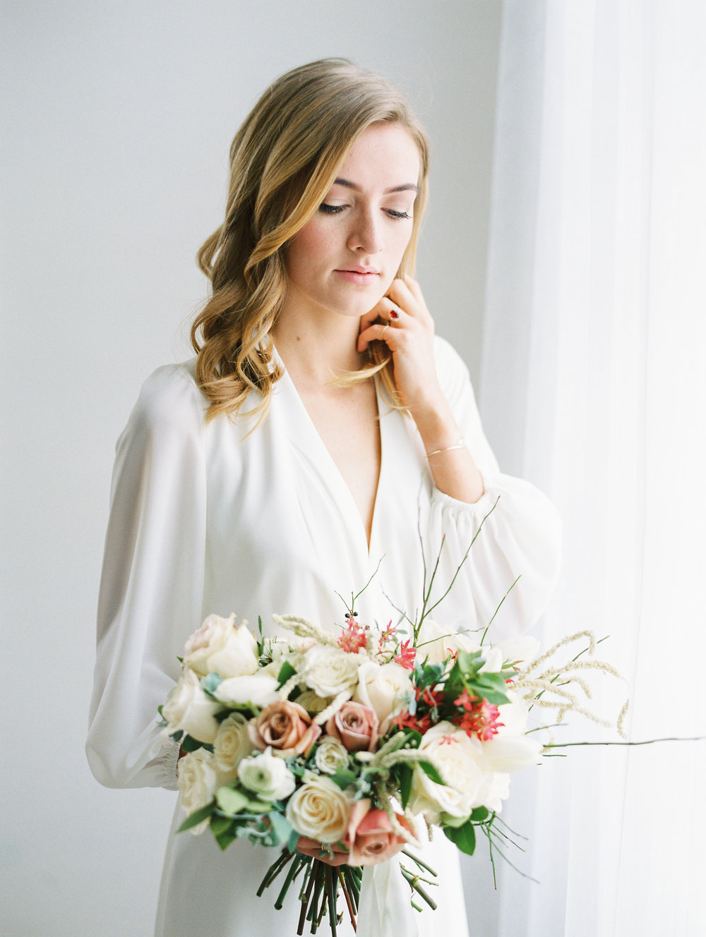 Foggy Winter Utah Bridals with The Potted Pansy