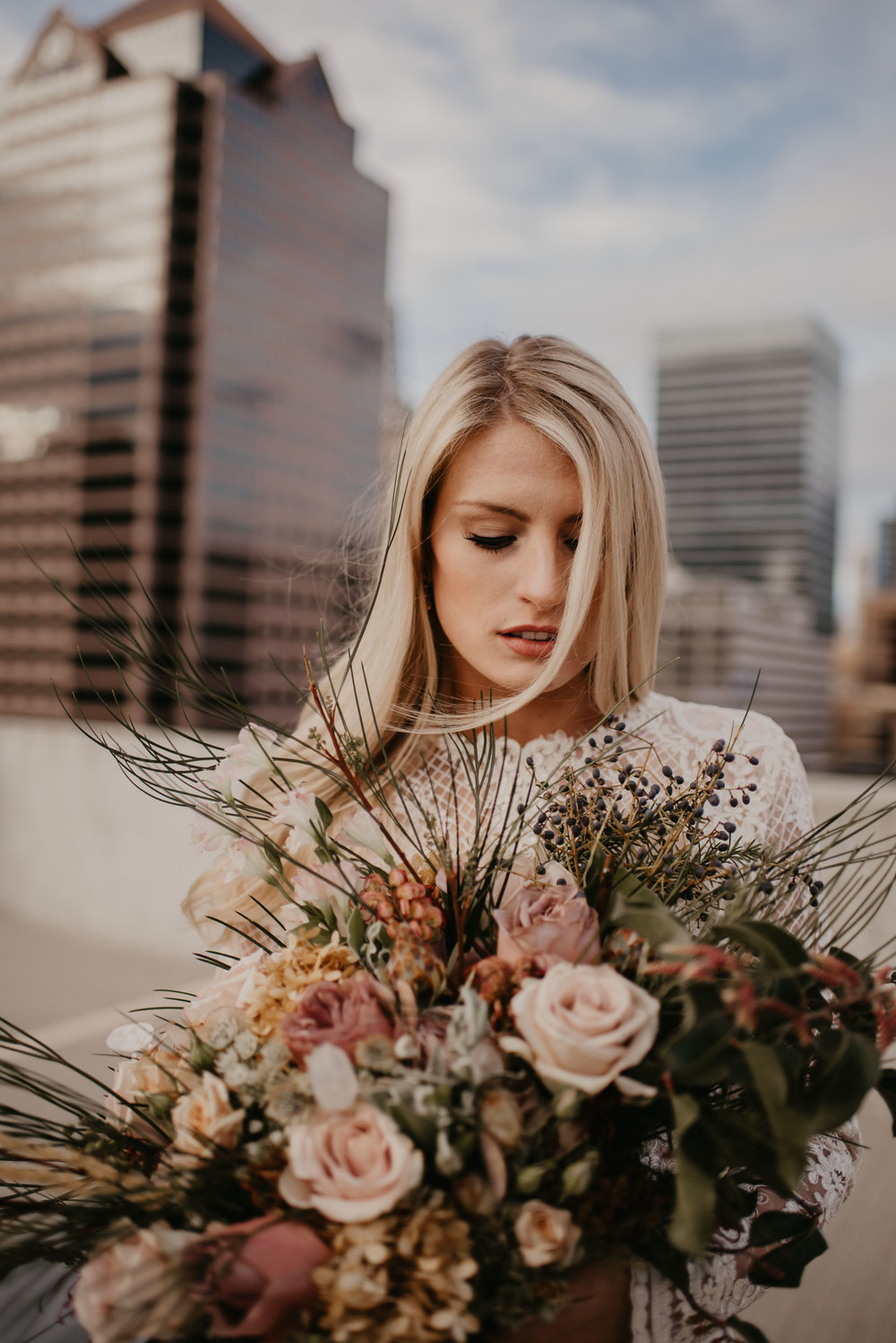 Downtown Salt Lake Rooftop Bridals