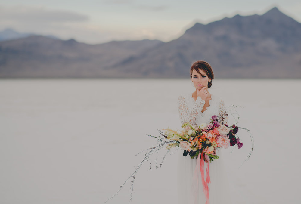 Utah Salt Flats Bridal Session