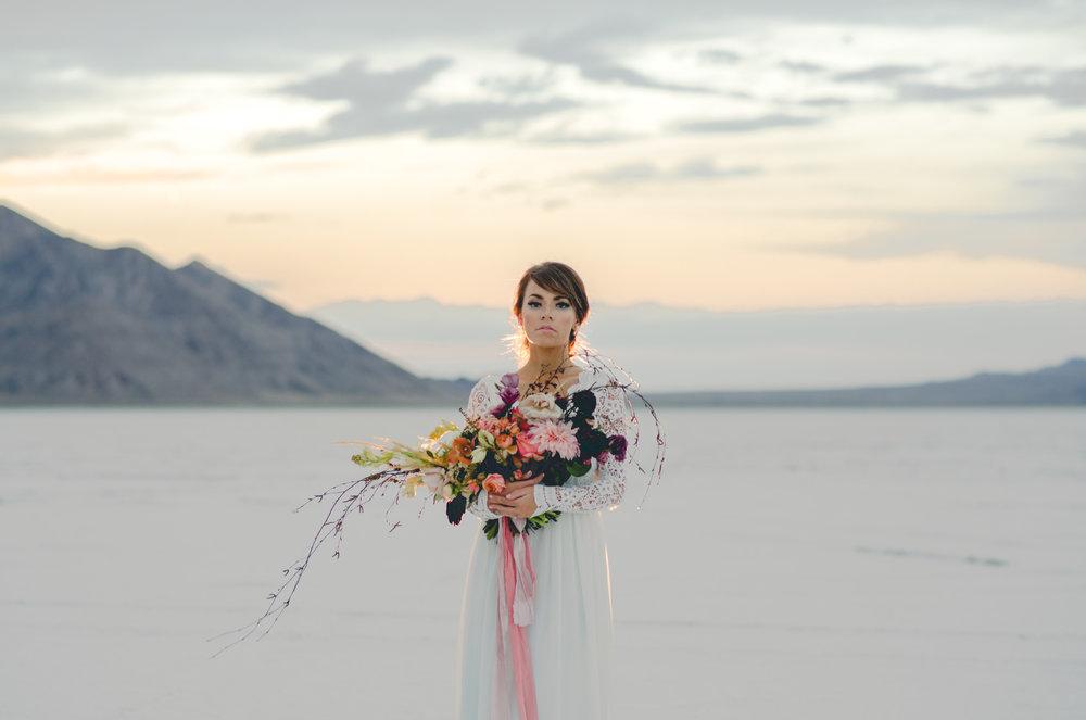 Utah Salt Flats Bridals