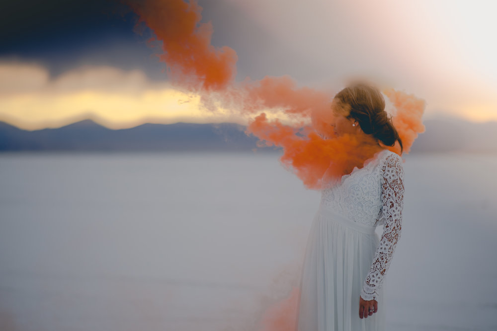 Salt Flats Smoke Bomb Photos