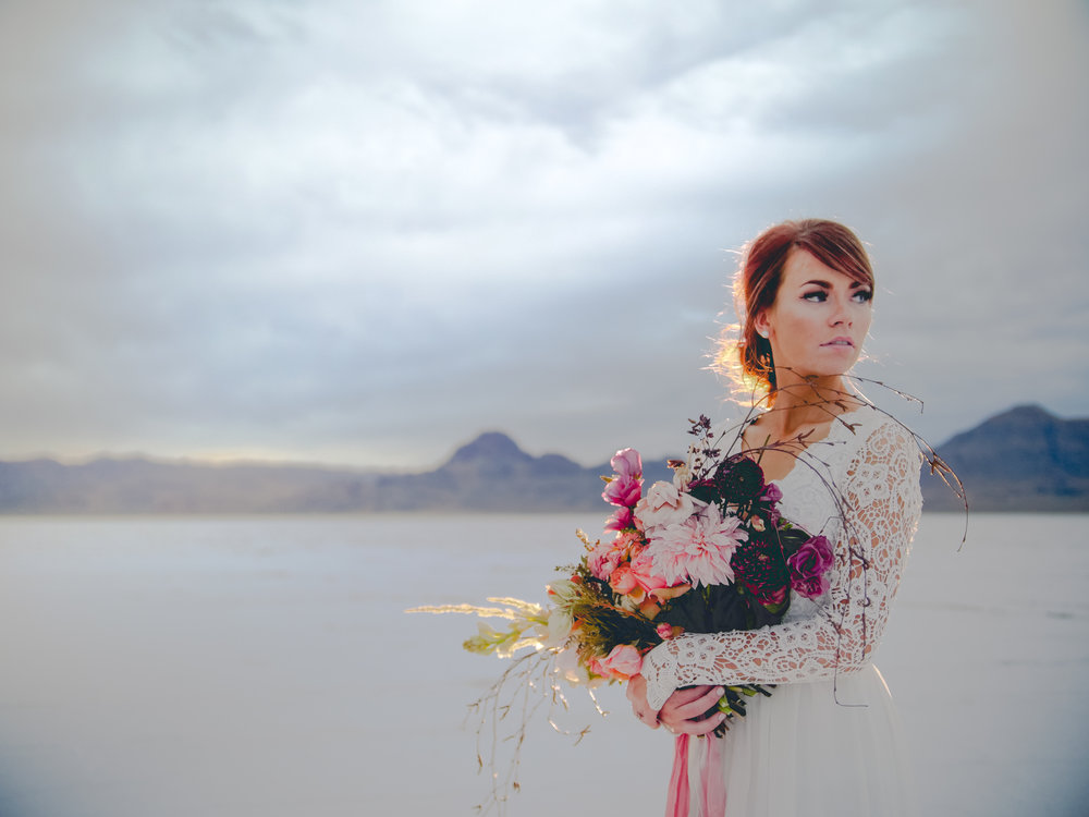 Salt Flats Bridal Session