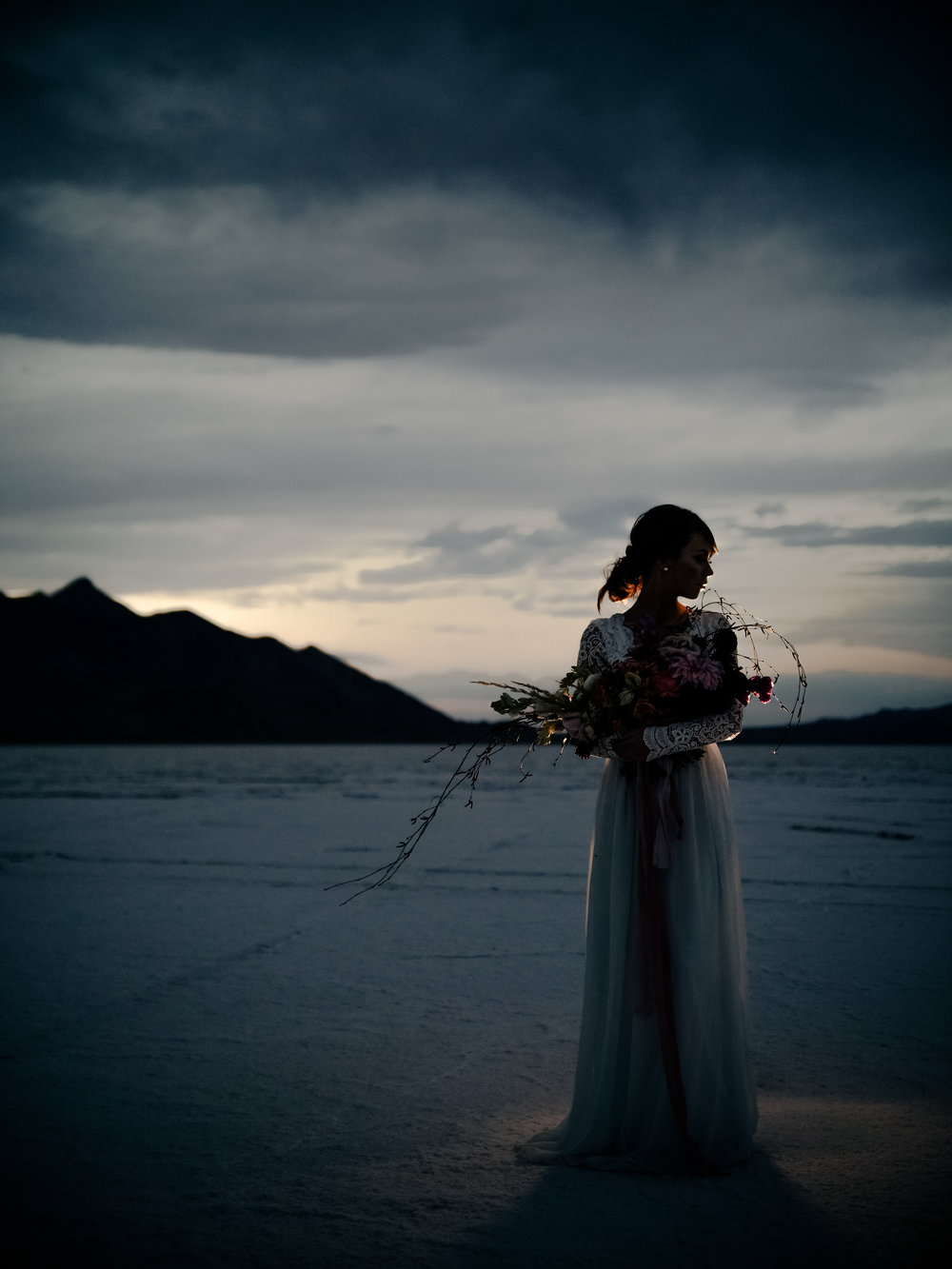 The Salt Flats Bridals at Sunset