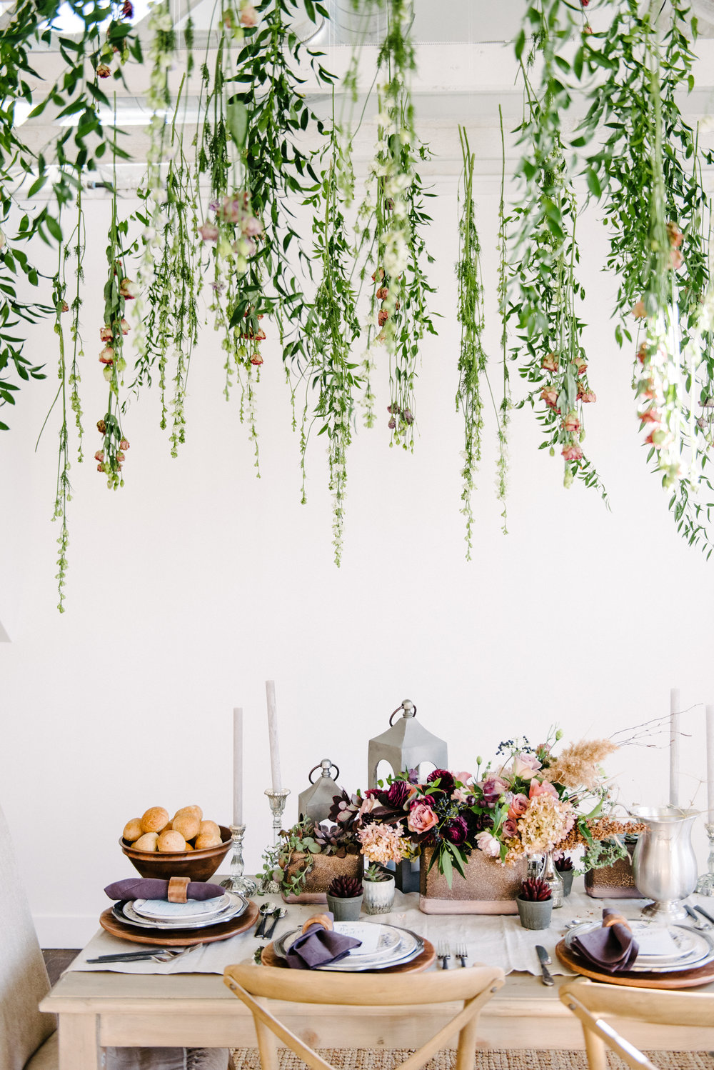 The Potted Pansy Geode Tablescape