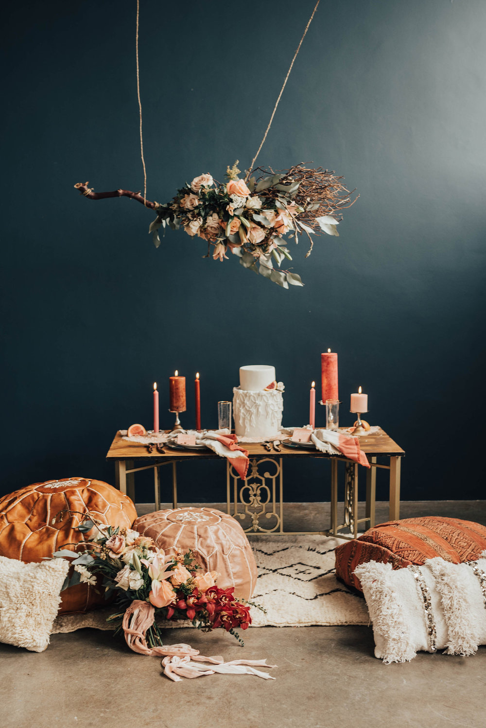 Indoor Boho Elopement