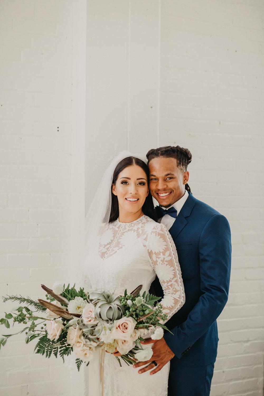 Amanda + Dominique Modern Wedding