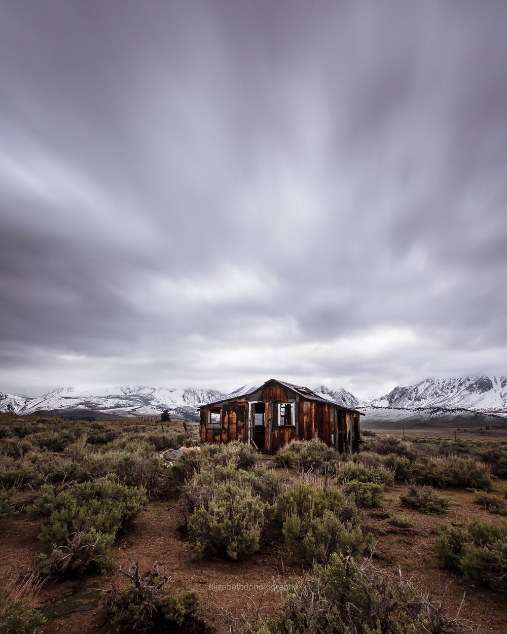 Overcast on Highway 395 by  Elizabeth Delgado  |  @elzbth