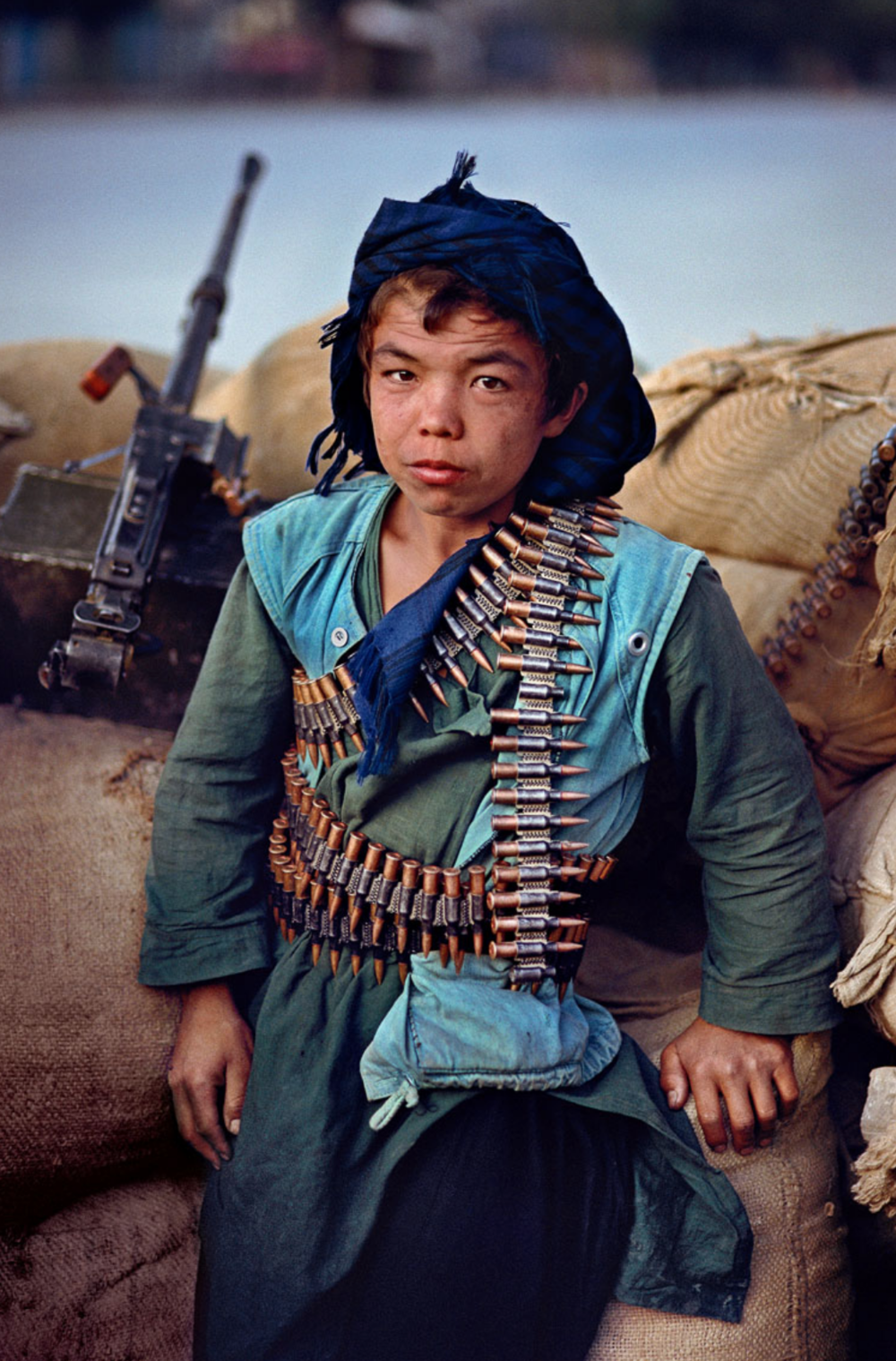 Afghani boy soldier. Photo by Steve McCurry.