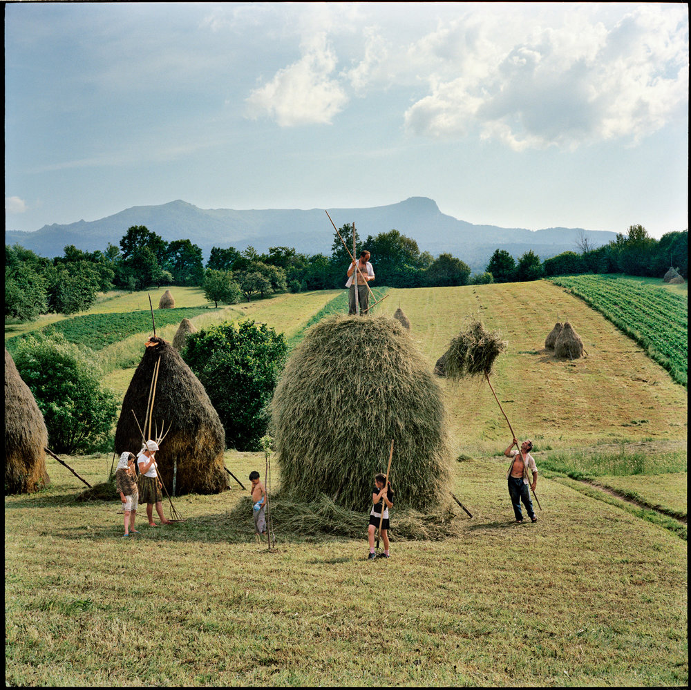 In Transylvania and other remote areas of Romania, many people farm on a small scale, in ways unchanged for centuries. Photo by Rena Effendi.