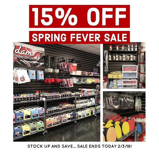 SPRING FEVER SALE Stop by, stock up and save 15% in our retail store located at 258 Broadhollow road. Farmingdale, NY 11735 or online at ExecutivePaintProtection.com/store when you mention this ad! *excludes rupes machines and ceramic pro #executivepaintprotection #execpaintpros #lidetailers #ceramicpro #nomorewax #detailsdoneright  #thecoatingkings #detail #paintcorrection #car #carporn #carsofinstagram #nyc #wheelrepair #paintprotection #clearbra #adamspolishes #ceramicprousa ——————————————————————— New York's Premier Retail Detail Supply! We carry only the best premium product lines such as @adamspolishes, @sonaxusa, #menzerna, @carpro_global, @chemicalguys, @bigfootrupes, premium microfibers, and @ceramicpro at our continuously growing facility! 258 Broadhollow rd. Farmingdale, NY 11735 ---------------------------------------------------- Contact us @execpaintpros for all of your paint correction, clear bra, vinyl wraps, and permanent coating needs! Call 631.828.9166 or email contact@executivepaintprotection.com to reserve your appointment today! ———————————————————————