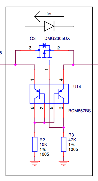 P-MOSFET input protection circuit