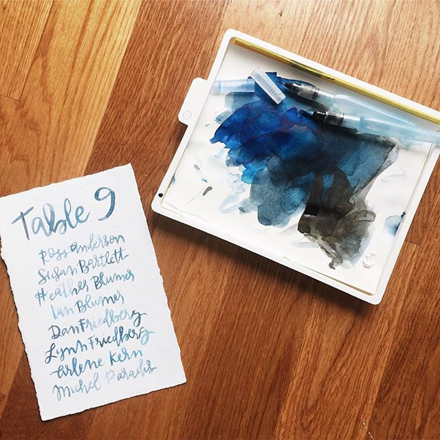 Trying out some new fancy water brushes. 💦 #watercolor #brushcalligraphy #kernyouphilthelove