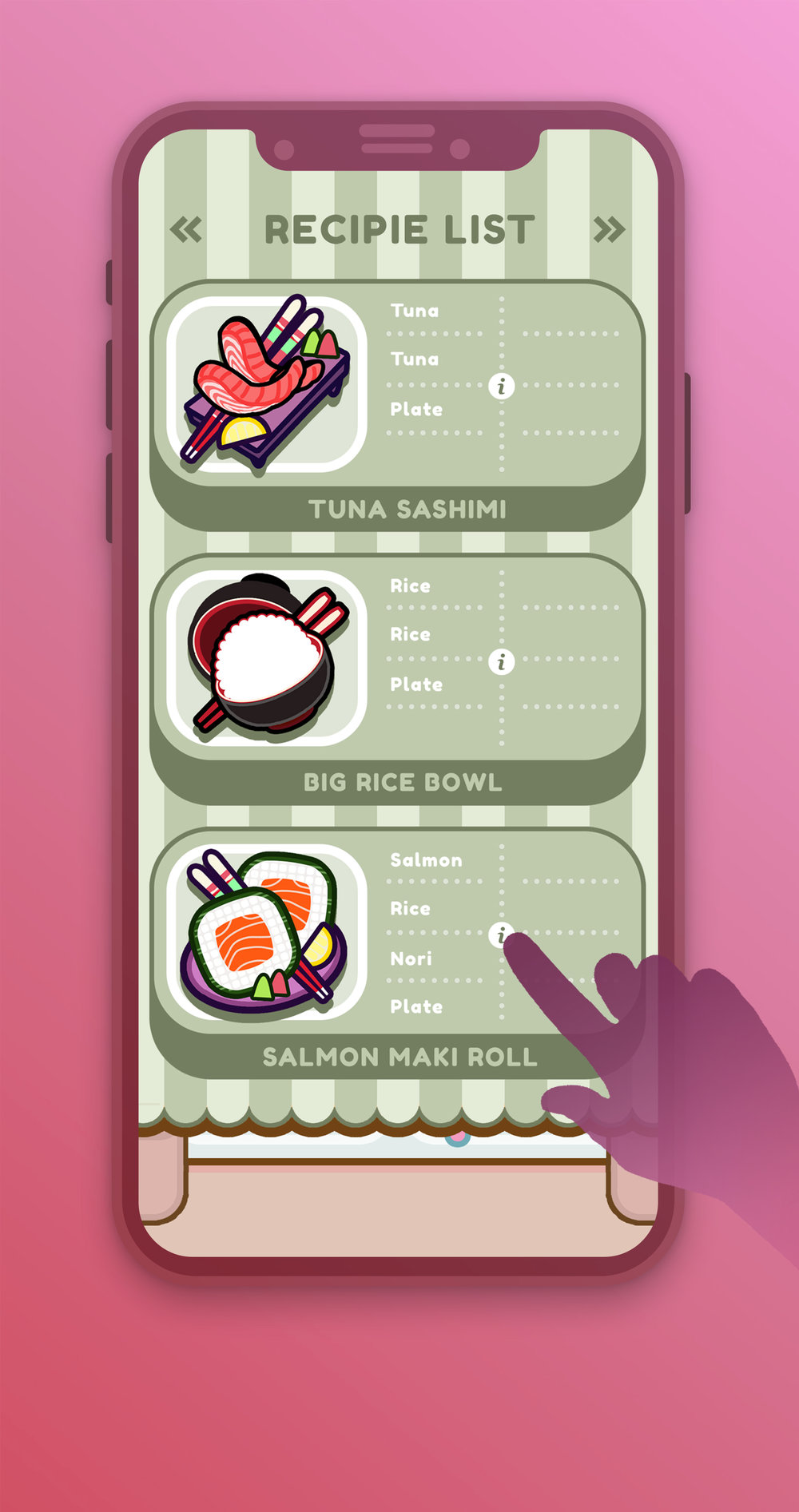 COOK ITCook up a storm of ICONIC DISHES from all across the globe! You might even end up playing with a couple that you DIDN'T KNOW.  We might be partial to starting with JAPAN for now, but we intend to make this a WORLD FOOD TOUR!     -