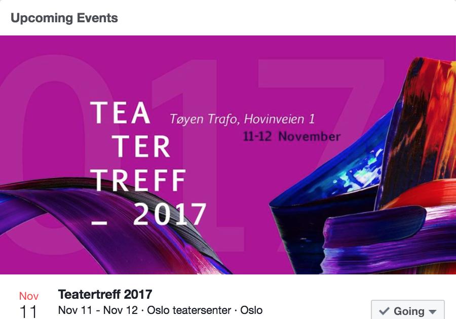 DADA spiller på teatertreff - 2017  @ Oslo teatersenter kl.20:00