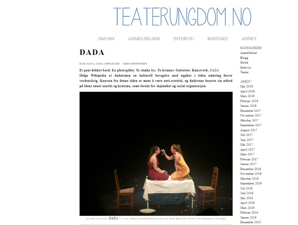 Teaterungdom har anmeldt oss! Klikk på bildet for å lese anmeldelsen.