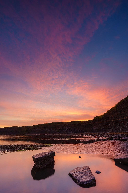 Kimmeridge Bay Burning Sunset