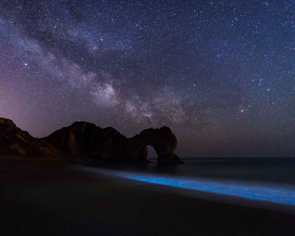 Bioluminescent Algae Durdle Door, Dorset