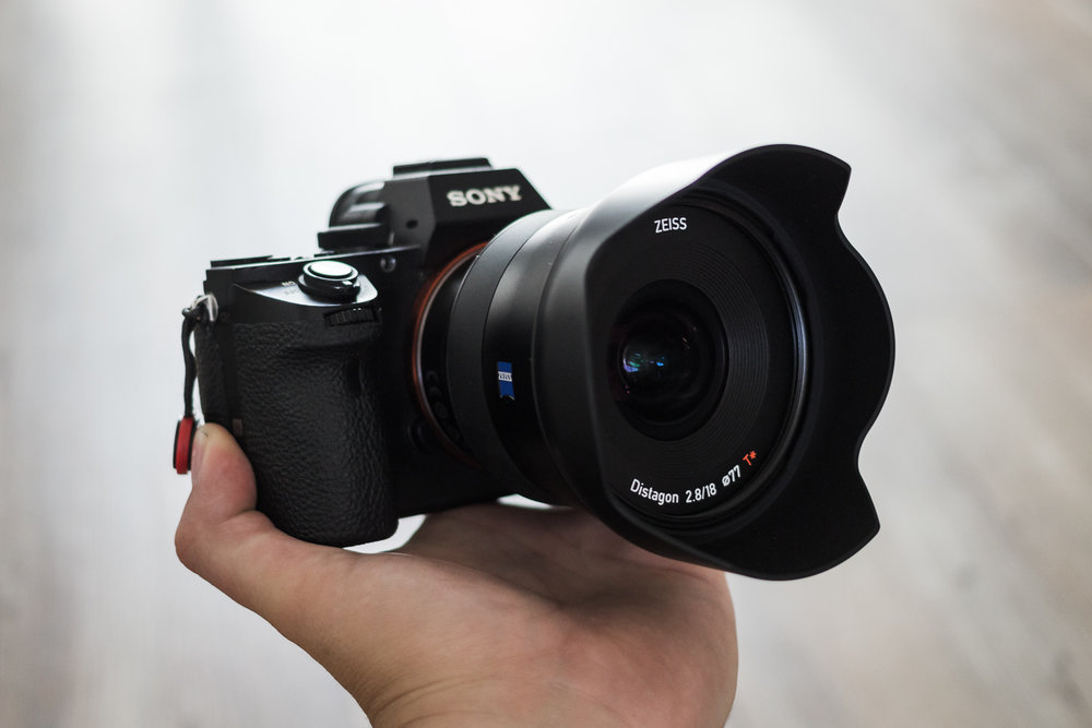 The Zeiss Batis 18mm F/2.8 Mounted to The Sony A7ii