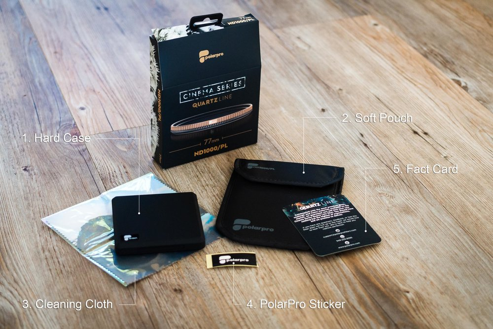 PolarPro QuartLine Filter Packaging and Contents