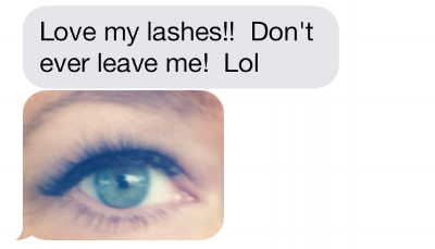 Kristen Loves her lashes