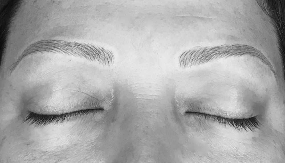 August 8, 2017. The Lash Extension Microblading Client