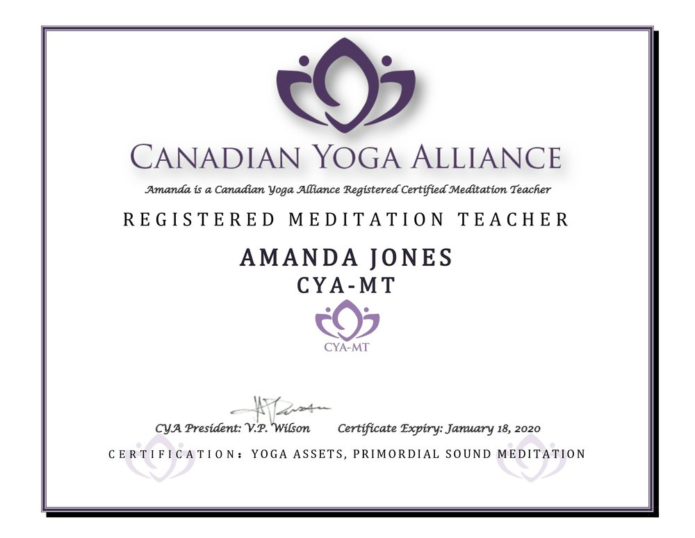 canadian yoga alliance meditation teacher
