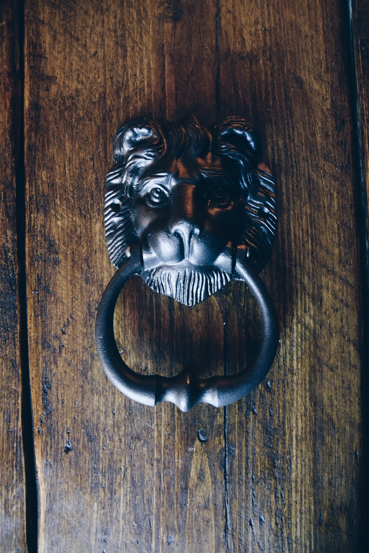 Heavy Lion Head Door Knocker