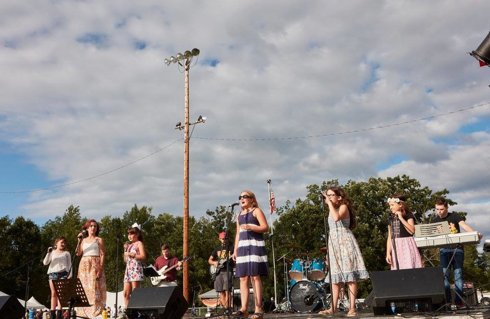 TRU Greenwood Lake @ WSAF 2017 - Greenwood Lake's GLEE groups performing with instructors at the Warwick Summer Arts Festival's Warwick 150 years event in August 2017
