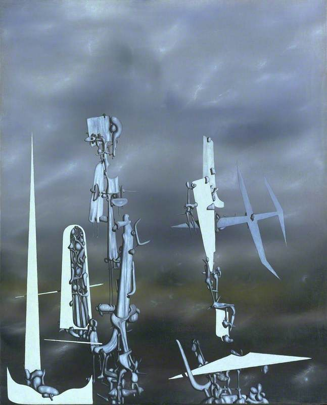 Yves Tanguy, Les Transparents, 1951. Oil on Canvas, 987 x 810 mm. Courtesy Tate Modern.