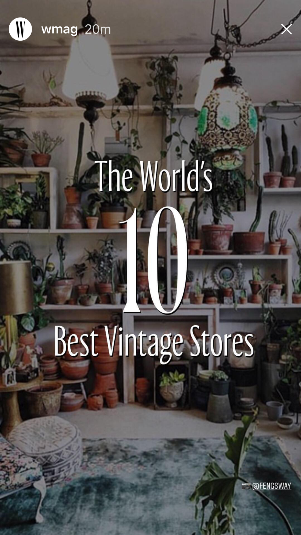 # 1 VINTAGE SHOP IN THE WORLD  W MAGAZINE ~ APRIL 2018
