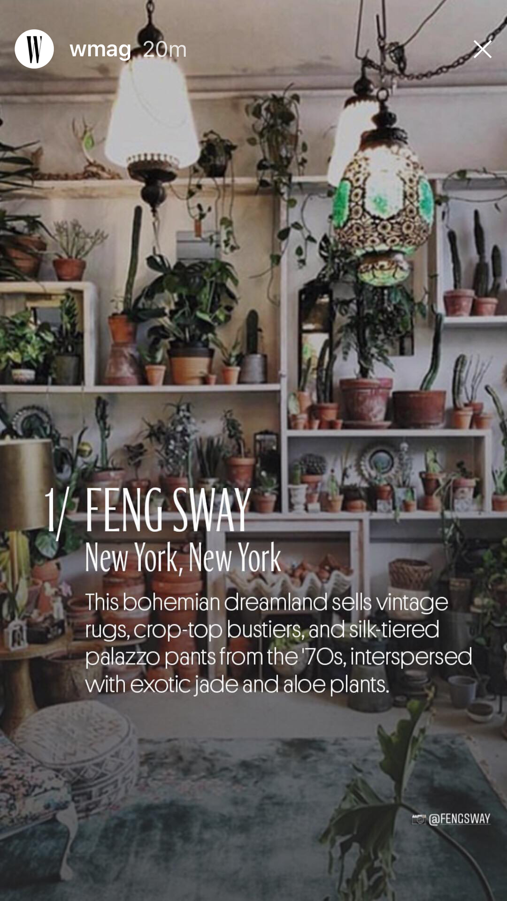 W MAGAZINE  #1 FENG SWAY