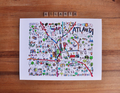 ATLANTA MAP (PRINT) — Yoyo Ferro