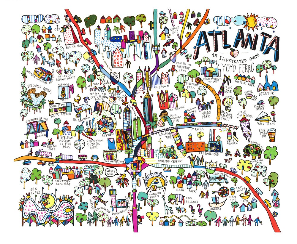 Atlanta Map for    Creative Loafing Atlanta  , 2015   BUY PRINT