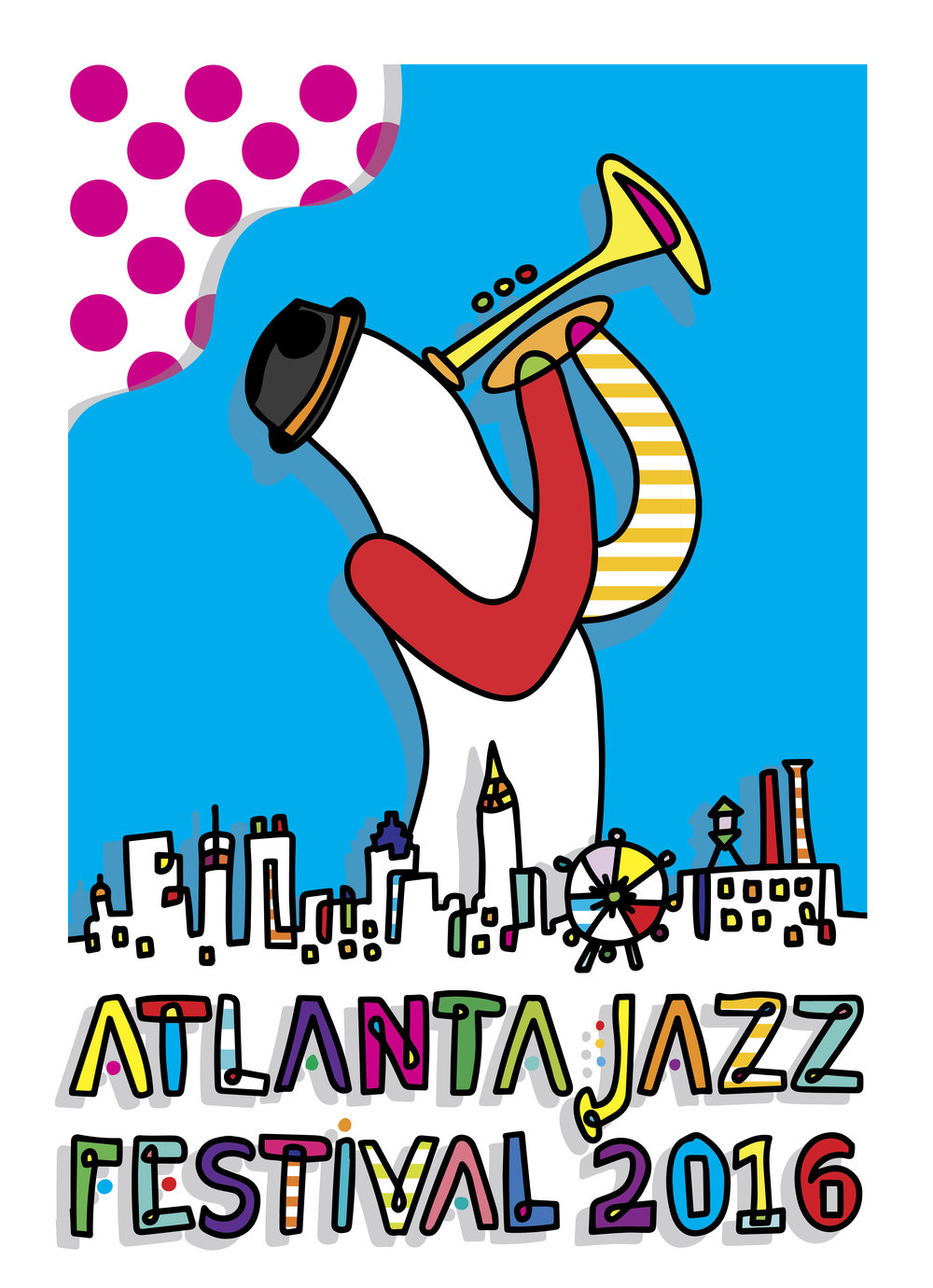 Atlanta Jazz Festival Poster  for  City of Atlanta Office of Cultural Affairs , 2016