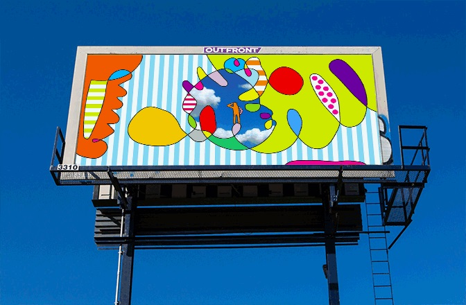 Billboard design for MailChimp. Atlanta GA, USA