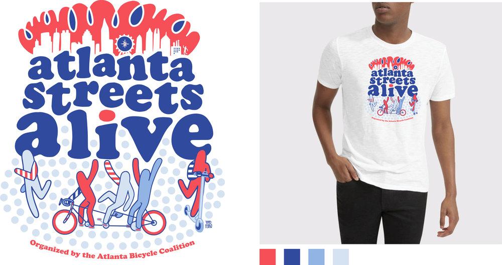 T-SHIRT design for 2019  Atlanta Streets Alive