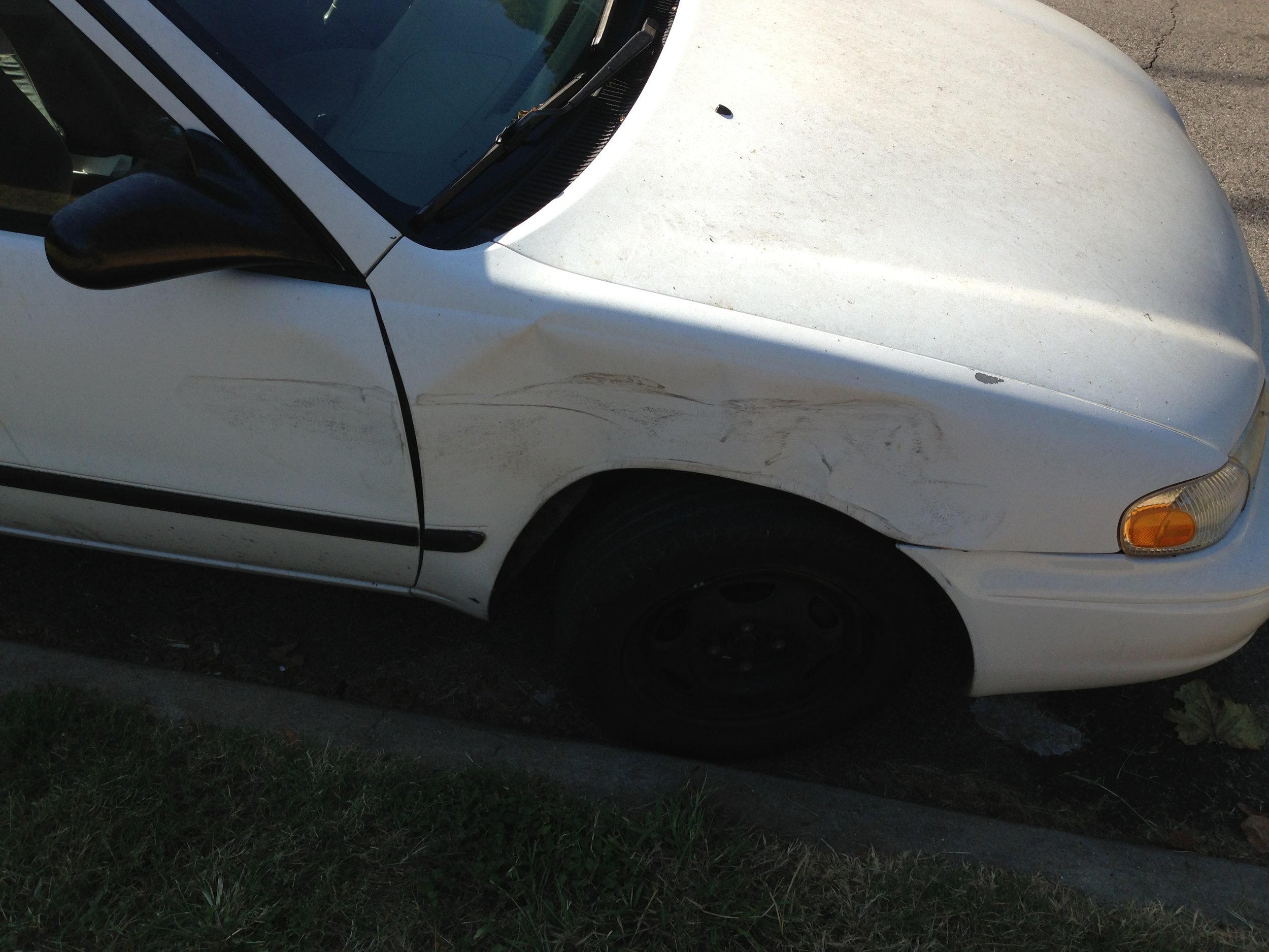 My poor car.
