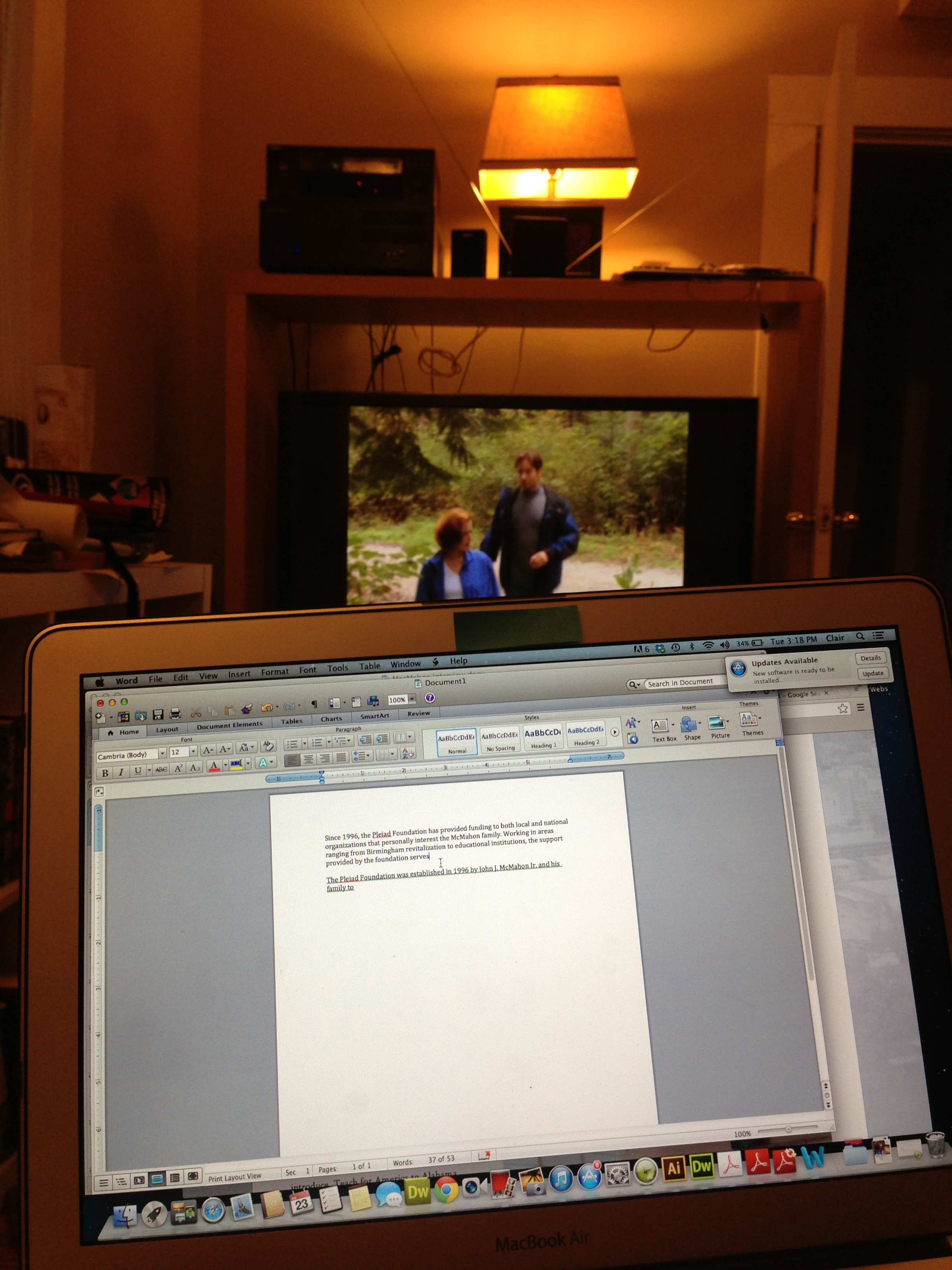 I write a lot...and watch trashy TV.