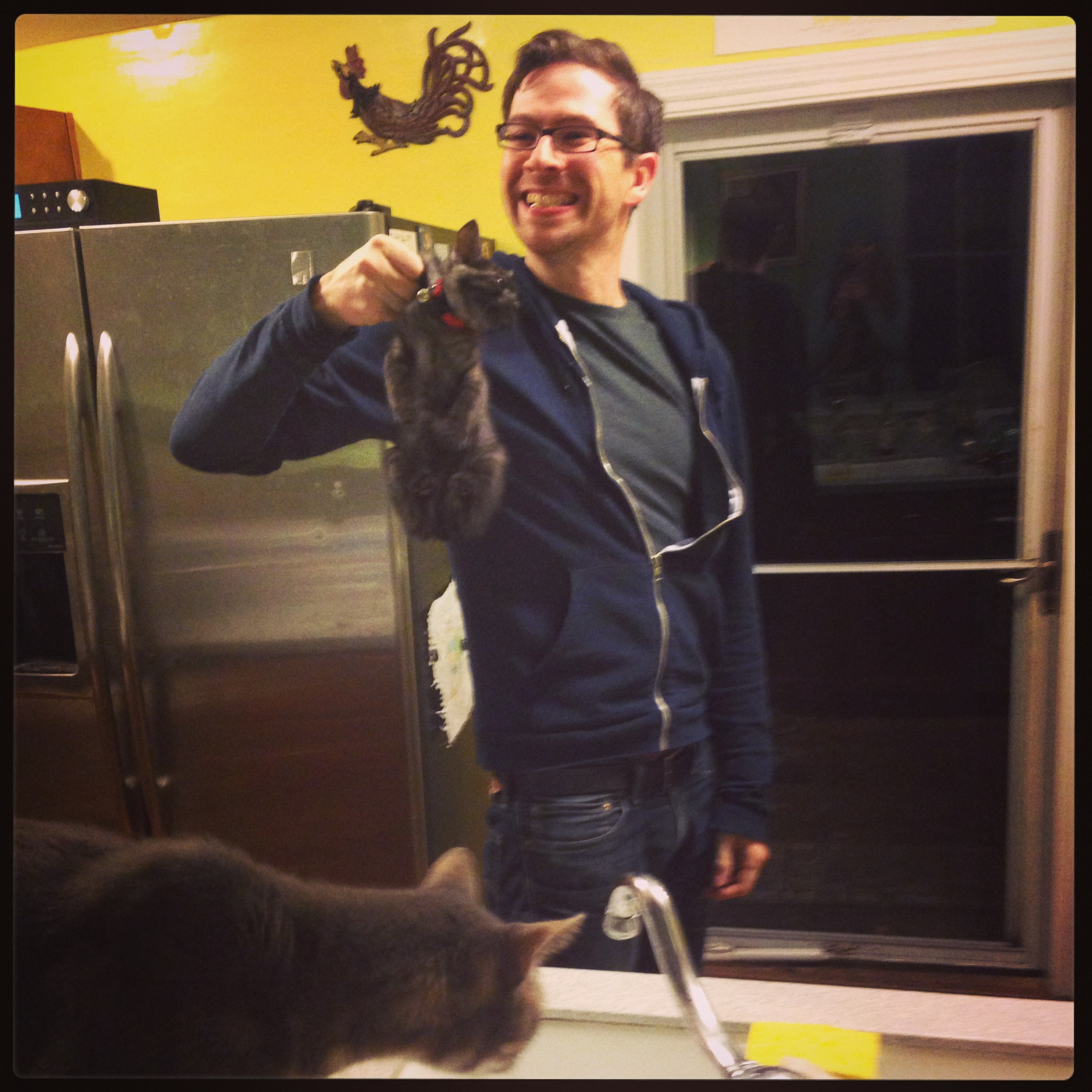 Did I mention Adam's also a fearless hunter of cats and other small game?