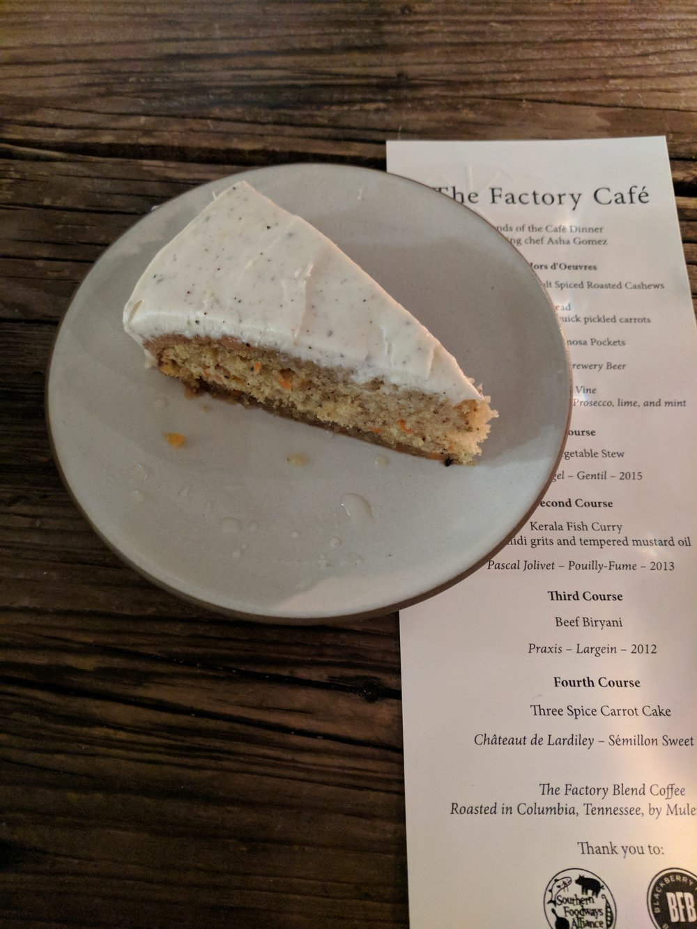 Three Spice Carrot Cake