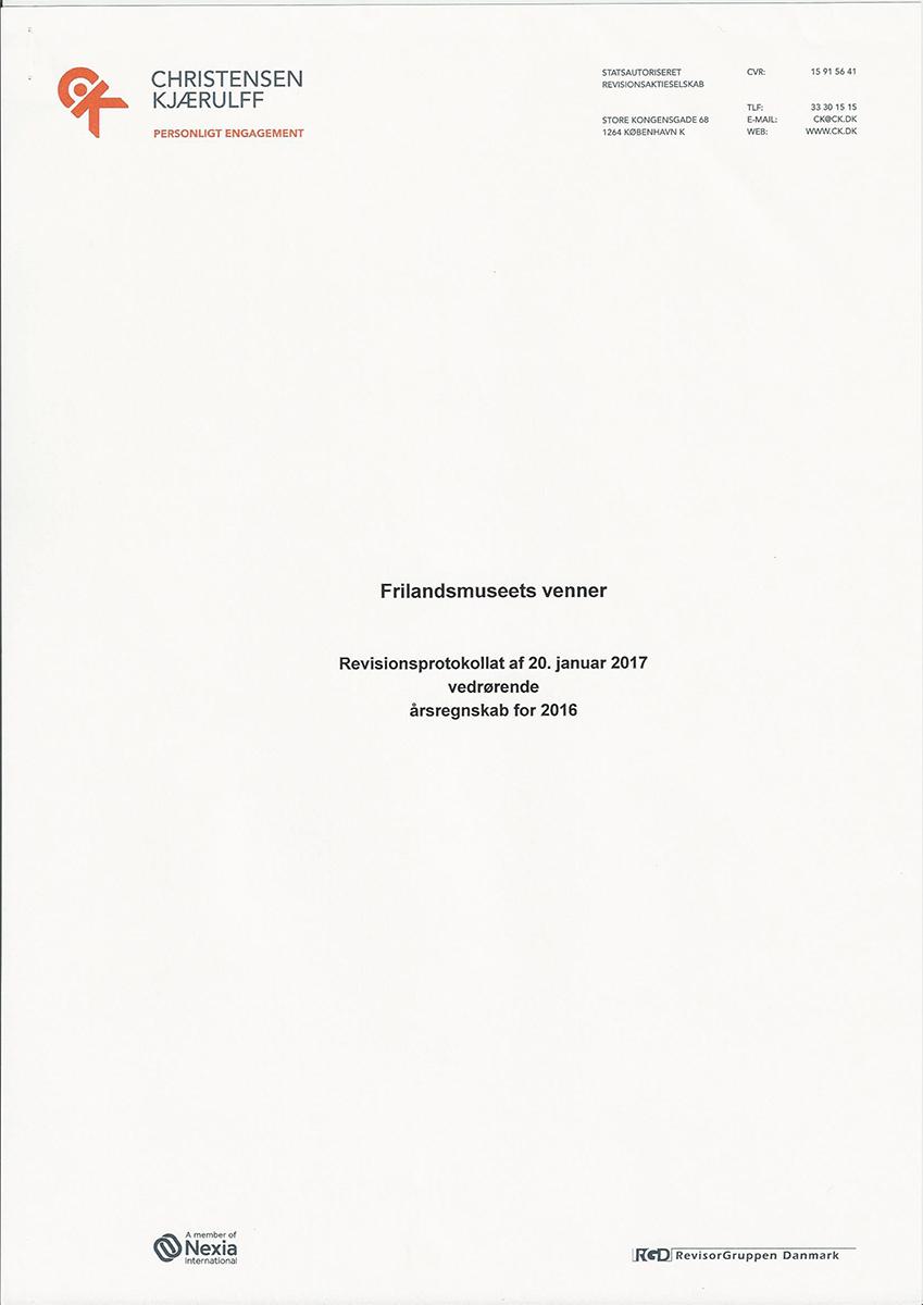 Revisionsprotokollat vedrørende årsregnskab 2016 -