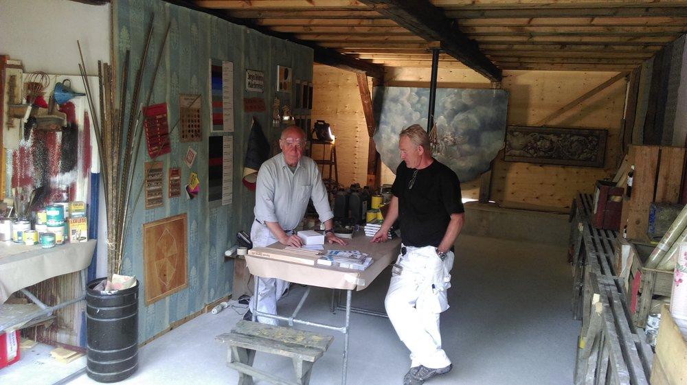 Marstal trælastlade til Håndværkets dage 26./27. maj med Kenn og Stens pop-up malerbutik.