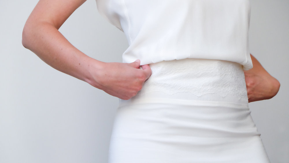 Lucie Fouquet robe Chloé ceinture application de dentelle