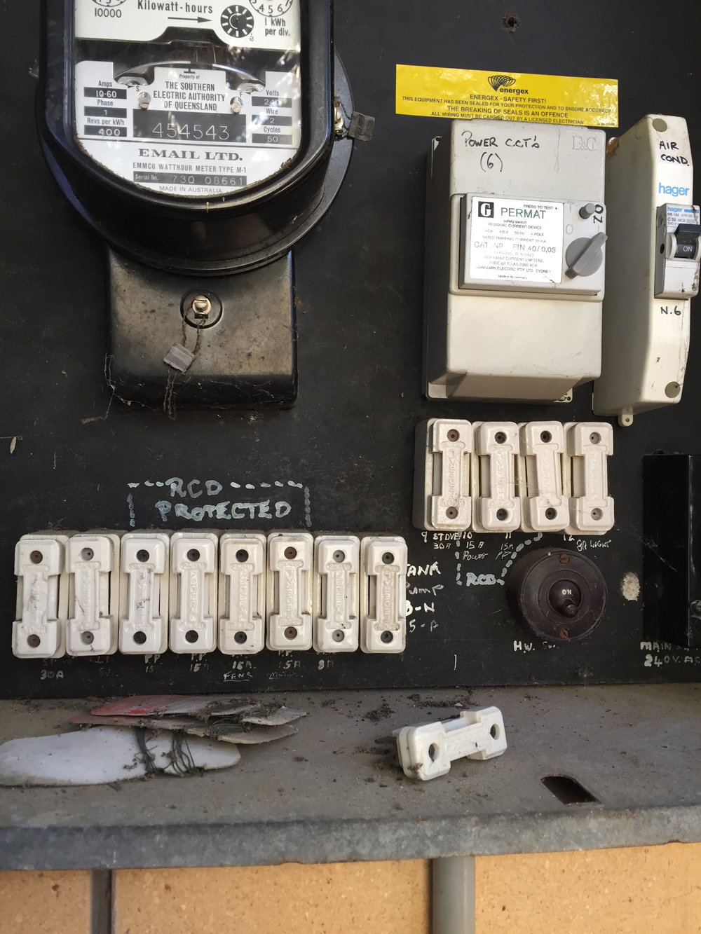 Safe Fuse Box Repairs Fusion Electrical Gold Coast Old Style Parts Switch Board