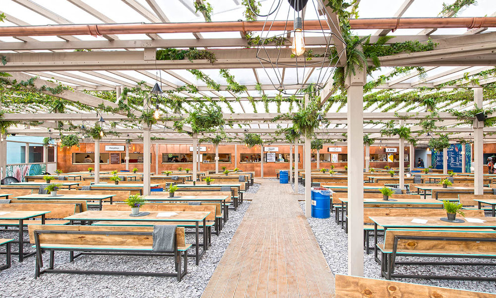 This summer we're hugely excited to open our second and brand new Pergola site: Pergola Paddington Central! DJs, 7 day beds, 2 bars, 5 restaurants and fully weatherproof. Eat and drink out for less than £20 - uncomplicated, urban, affordable, fun! Open 7 days a week for lunch & dinner 24th  May  – 1st October 2017.
